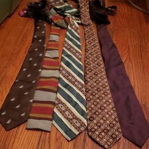 Five Vintage Ties